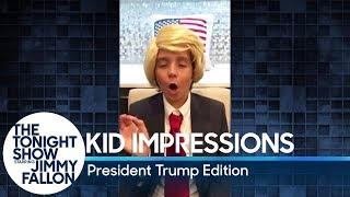 Kid Impressions: President Trump Edition