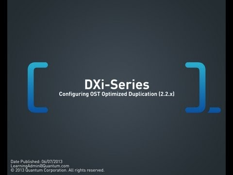 DXi-Series: Configuring OST Optimized Duplication (2.2.x and 2.3)