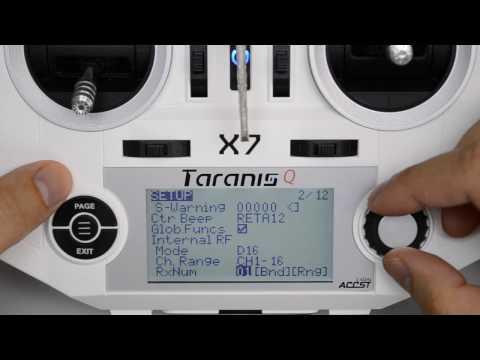 Taranis Q X7 OpenTX Tutorial - First Flight Setup (Minimum)
