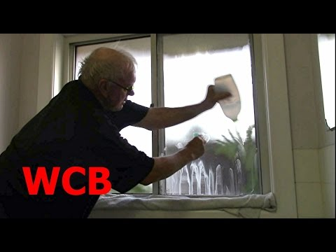 CLEAN FROSTED BATHROOM WINDOW GLASS EASY WAY