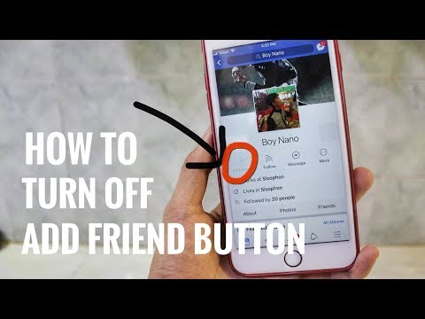 How To Disable Add Friend Button On Facebook 2019