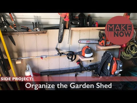 Side Project: Organize the Garden Shed