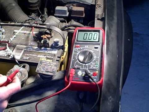 Testing For Current Drain That Runs Down Car Battery
