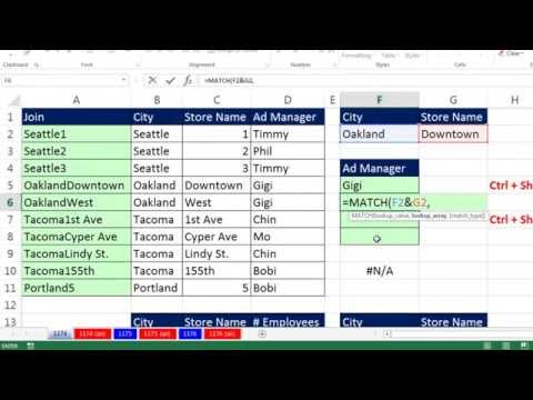Excel Magic Trick 1174: Two Lookup Values For VLOOKUP? How Do I Do That? (6 Methods)