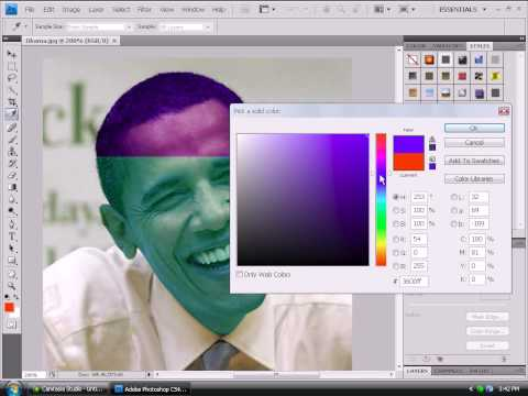 How To Change Your Skin Color In Adobe Photoshop CS4