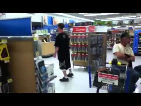 Idiot dancing in Wal-Mart