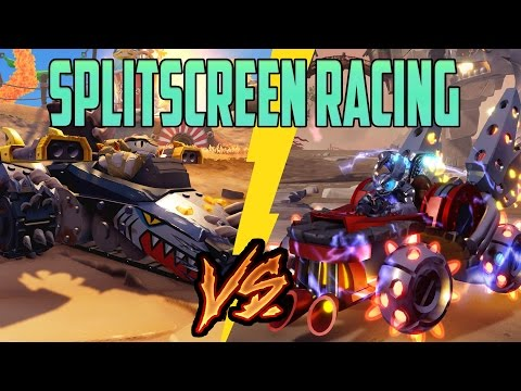 2 Player Splitscreen Racing - Land Vehicles - Skylanders Superchargers - 1080p 60FPS