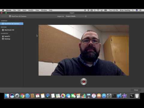 Recording Video in iMovie for Mac