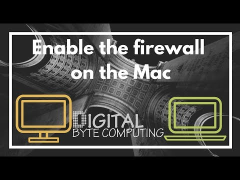 How to enable and configure the firewall on the Mac running macOS Sierra