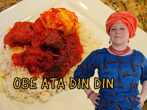 Oyinbo Cooking: Obe Ata Din Din (Nigerian Fried Pepper Stew)