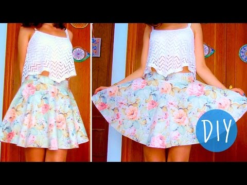 DIY skater/circle skirt in 3 steps! (No zipper/no elastic band)