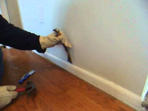 How to remove wood molding, quarter round, baseboard, skirting, mopboard, floor molding, trim
