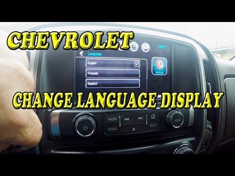 Chevrolet Silverado Changing Language English French or Spanish