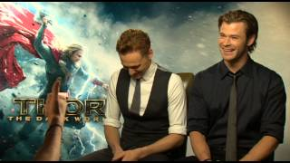 Chris Hemsworth and Tom Hiddleston Talk Natalie Portman