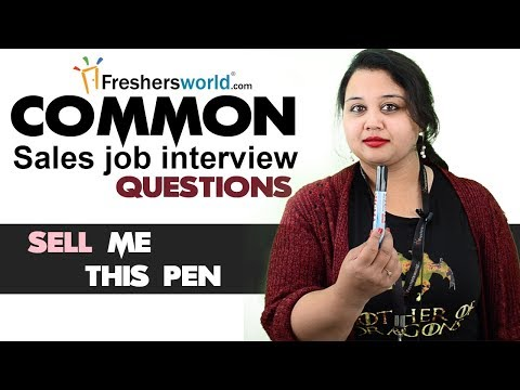 Tough sales job interview questions and how to answer them - Answer for Sell me this pen