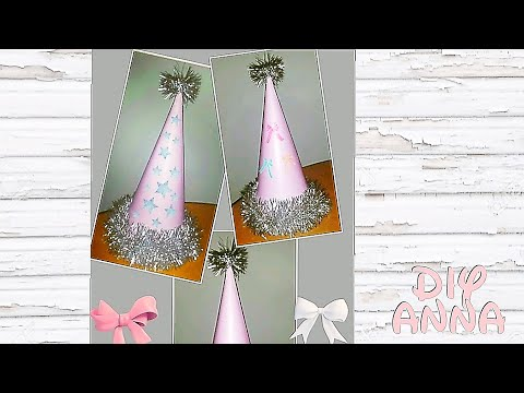 New Year party hat DIY paper craft decorations  ideas tutorial / URADI SAM