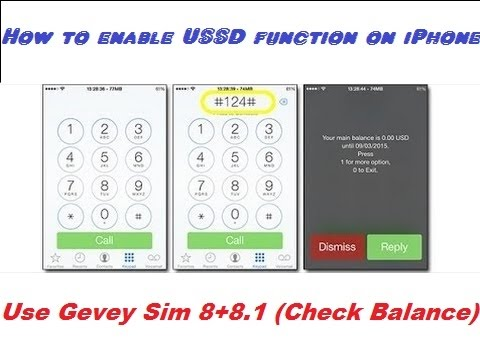 How to enable USSD function on iPhone iOS 8 (Check Balance), Feb 2015