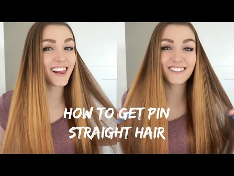 HOW TO GET PIN STRAIGHT HAIR // FLAT IRON TUTORIAL