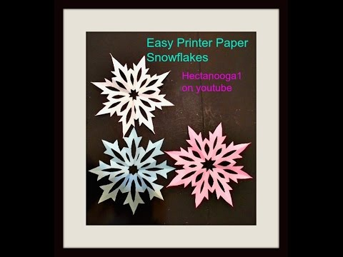 PRINTER PAPER SNOWFLAKES, diy-paper ornaments, paper stars, home dec
