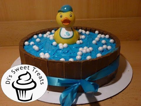 Baby Shower Cake- Kit-Kat Rubber Ducky Cake- Di's Sweet Treats