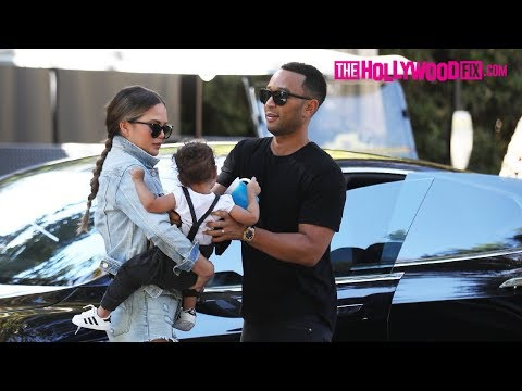 John Legend & Chrissy Teigen Take Baby Luna Out To Lunch At Hotel Bel-Air 10.16.17