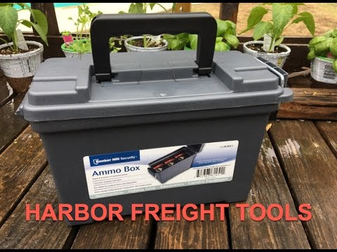 Harbor Freight Bunker Hill Security Ammo Box Review Item# 61451