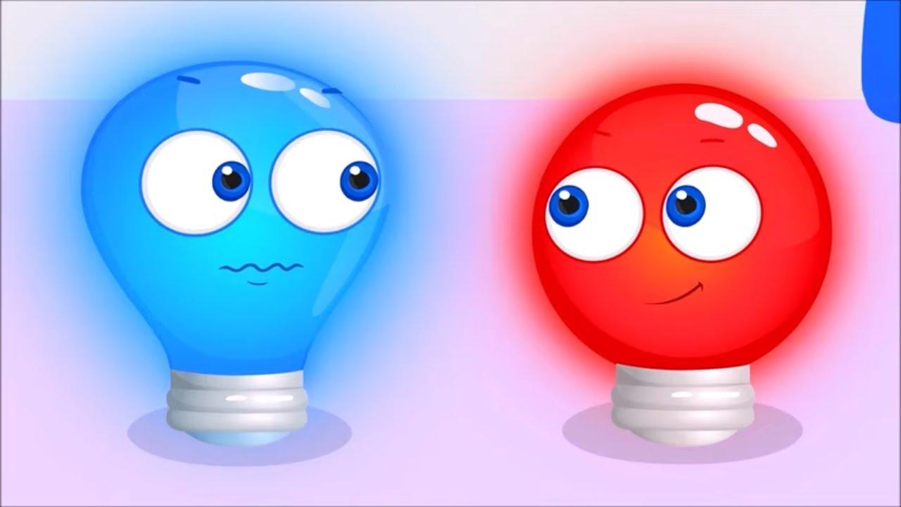 Red vs Blue Colors Challenge - Learn Colors for Kids | Op & Bob kids cartoon