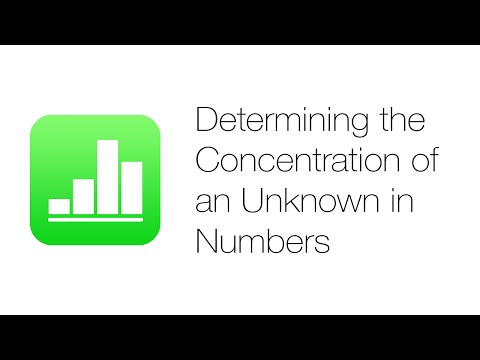 Office Tutorials - Determining the Concentration of an Unknown Sample (iWork Numbers '09)
