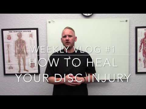 Vlog #1: How to heal your disc injury without surgery.