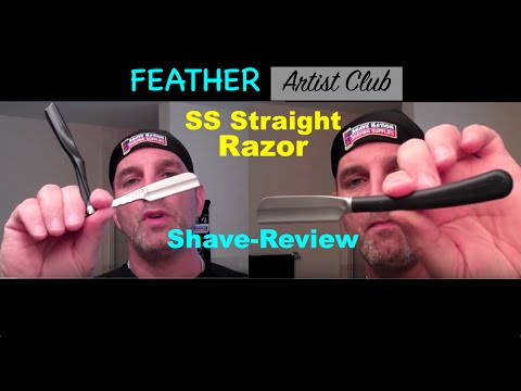 Feather Artist Club SS Straight Razor Review and Shave
