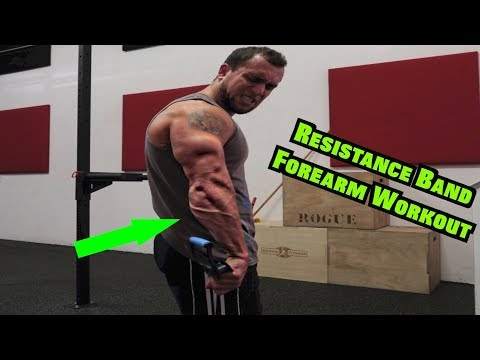 Intense 5 Minute Resistance Band Forearm Workout