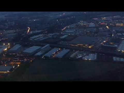 Landing at Cologne-Bonn Airport, North Rhine-Westphalia, Germany - 25th January, 2018