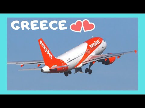Island of SANTORINI, taking off with EASYJET, spectacular views (GREECE)