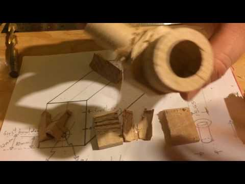 Making a Cherry Wood Tobacco Pipe (no wood lathe)