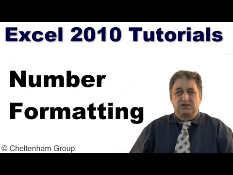 Excel 2010 Tutorial -- Number formatting in Excel