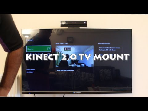 Xbox one Kinect 2.0 TV Mount unboxing and setup