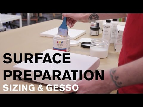 Surface Preparation: Sizing & Gesso