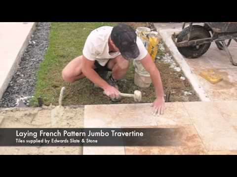 How to Lay Travertine Pavers French Pattern