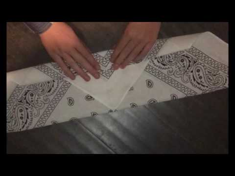 How to fold a bandana headband
