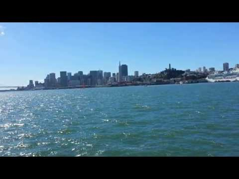 Ferry Ride View. San Francisco Ferry Building to Pier 39 41. Treasure Island, Angel Island.