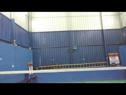 Indoor badminton court shed