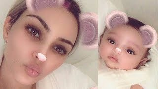 Kim Kardashian Shares FIRST Ever Photo of New Baby Chicago West with Adorable Instagram Filter