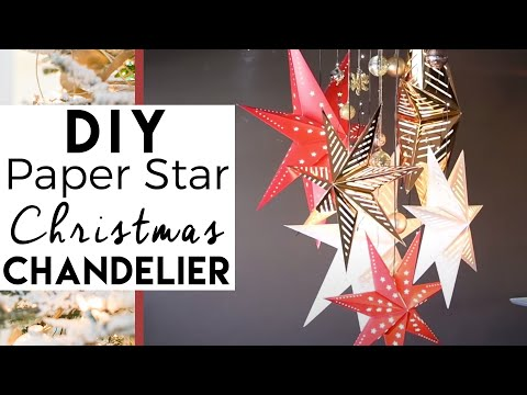 How to make a Paper Star Chandelier - Christmas Decorations