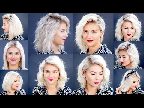 HOW TO: 10 Easy Short HairStyles With Flat Iron Tutorial | Milabu