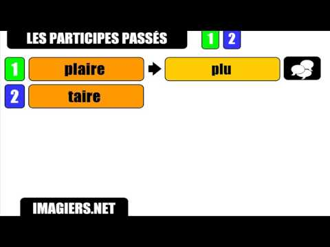 Learn French # The past participles # aire = u