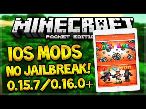 iOS MCPE MODS NO JAILBREAK OR PC!! Minecraft Pocket Edition No Vanilla App Tutorial (Pocket Edition)