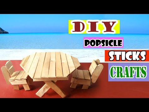 Easy Toys for Kids | Diy Table & Chairs using Popsicle Sticks
