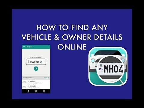 How to find Vehicle Owner Name Online | Find Vehicle RTO Registration number details Online