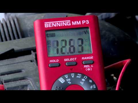 How to check battery voltage, alternator voltage, and load test voltage with a multimeter