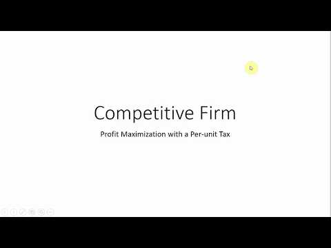 Competitive Firm: Maximizing Profit with Per-Unit Tax